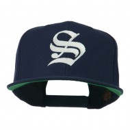 Old English S Embroidered Cap - Navy