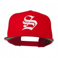Old English S Embroidered Cap - Red