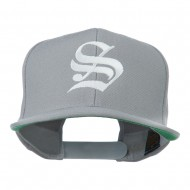 Old English S Embroidered Cap - Silver
