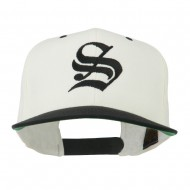 Old English S Embroidered Cap - Natural Black