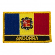 New Europe Flag Embroidered Patch - Andorra