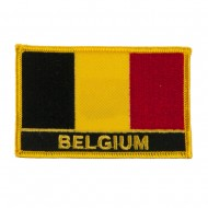 New Europe Flag Embroidered Patch - Belgium