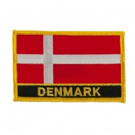 New Europe Flag Embroidered Patch - Denmark