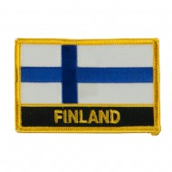 New Europe Flag Embroidered Patch - Finland