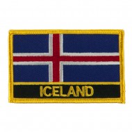 New Europe Flag Embroidered Patch - Iceland