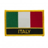 New Europe Flag Embroidered Patch - Italy