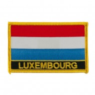 New Europe Flag Embroidered Patch - Luxembourg