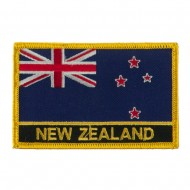 New Europe Flag Embroidered Patch - New Zealand