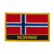 New Europe Flag Embroidered Patch - Norway