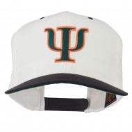 Greek Alphabet PSI Embroidered Classic Two Tone Cap - Natural Black