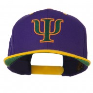 Greek Alphabet PSI Embroidered Classic Two Tone Cap - Purple Gold