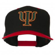 Greek Alphabet PSI Embroidered Classic Two Tone Cap - Black Red