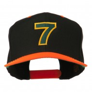 Arial Number 7 Embroidered Classic Two Tone Cap - Neon Orange