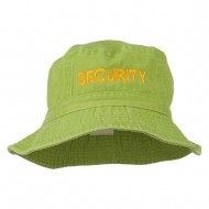 Security Embroidered Pigment Dyed Bucket Hat - Apple Green