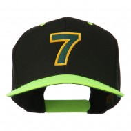 Arial Number 7 Embroidered Classic Two Tone Cap - Neon Yellow