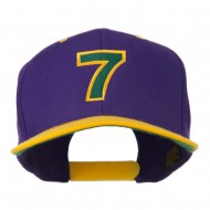 Arial Number 7 Embroidered Classic Two Tone Cap - Purple Gold