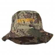Security Embroidered Pigment Dyed Bucket Hat - Camo