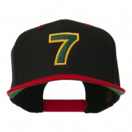 Arial Number 7 Embroidered Classic Two Tone Cap - Black Red