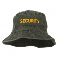 Security Embroidered Pigment Dyed Bucket Hat - Charcoal