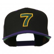 Arial Number 7 Embroidered Classic Two Tone Cap - Black Purple