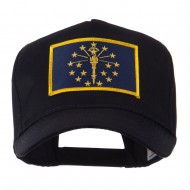 USA Eastern State Embroidered Patch Cap - Indiana