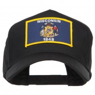USA Eastern State Embroidered Patch Cap - Wisconsin