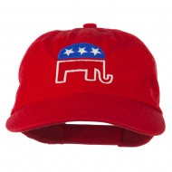 Republican Elephant USA Embroidered Pet Spun Cap - Red