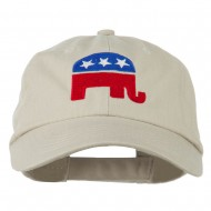 Republican Elephant USA Embroidered Pet Spun Cap - Stone