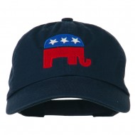 Republican Elephant USA Embroidered Pet Spun Cap - Navy