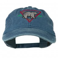 Black Bear Embroidered Washed Cap - Navy
