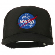 NASA Insignia Embroidered Youth Foam Mesh Cap - Black