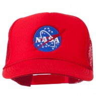 NASA Insignia Embroidered Youth Foam Mesh Cap - Red