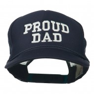 Proud Dad Letters Embroidered Youth Mesh Cap - Navy