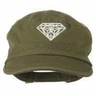 Diamond Embroidered Enzyme Army Cap - Olive