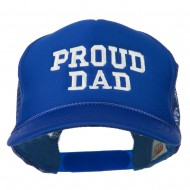 Proud Dad Letters Embroidered Youth Mesh Cap - Royal