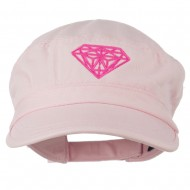 Diamond Embroidered Enzyme Army Cap - Pink