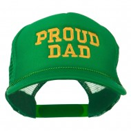 Proud Dad Letters Embroidered Youth Mesh Cap - Kelly