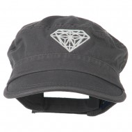 Diamond Embroidered Enzyme Army Cap - Grey