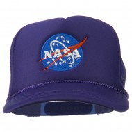 NASA Insignia Embroidered Youth Foam Mesh Cap - Purple
