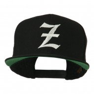 Old English Z Embroidered Cap - Black