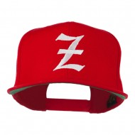 Old English Z Embroidered Cap - Red
