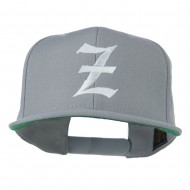 Old English Z Embroidered Cap - Silver