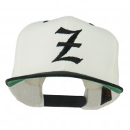 Old English Z Embroidered Cap - Natural Black