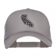 California Golden State Embroidered Trucker Cap - Grey