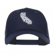 California Golden State Embroidered Trucker Cap - Navy