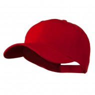Cotton Twill Adjustable Cap - Red