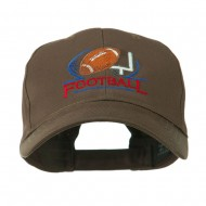 Football Logo Embroidered Cap - Brown
