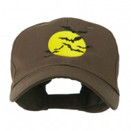 Flying Bats with Moon Embroidered Cap - Brown