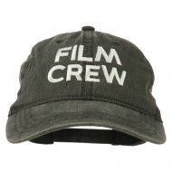 Film Crew Embroidered Washed Cap - Black