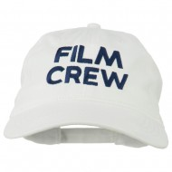 Film Crew Embroidered Washed Cap - White